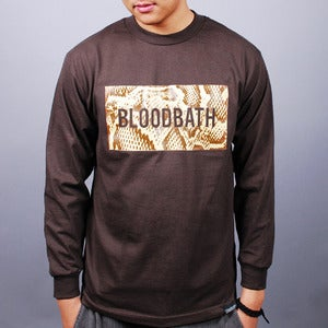 Image of Boxed Python L/S Tee (Brown)