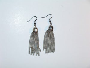 Image of Silver Tassel Earrings