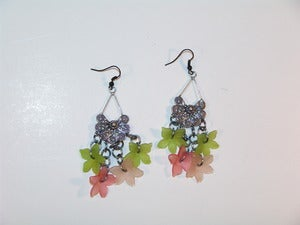 Image of Floral Chandelier Earrings