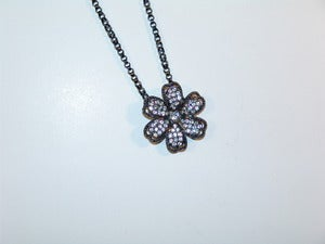 Image of Chic Jeweled Flower Necklace