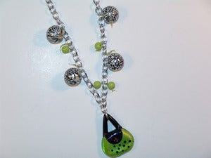 Image of Lime Purse And Print Necklace