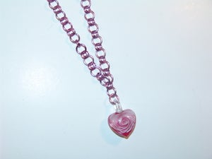Image of Dual Chain Heart Necklace