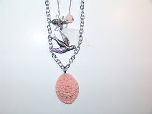 Image of Feather Floral Necklace