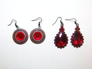 Image of Red Jewel Earrings