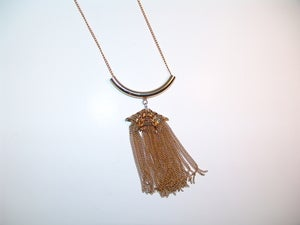 Image of Triple Chain Dangle Necklace