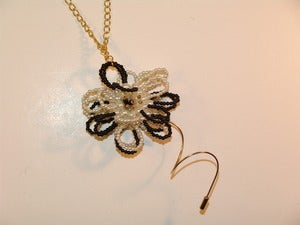 Image of Pearled Flower Necklace
