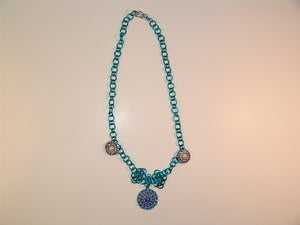 Image of Blue Rosette Pearl Necklace