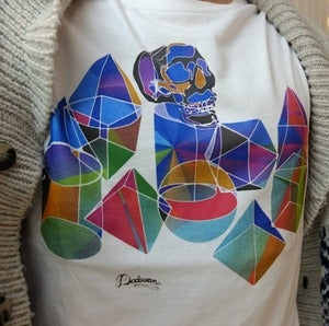 Image of T-shirt homme blanc Disco King colors