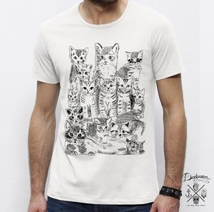 Image of T-shirt homme blanc Pussycats