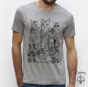 Image of T-shirt homme gris Pussycats
