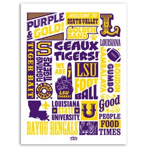 "Image of LSU Poster ""Wordblock"""