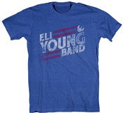 Image of Royal Blue Slanted Logo T-Shirt *FREE GRAB BAG T-SHIRT INCLUDED*