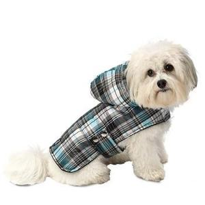 Image of Alberta Quilted Dog Parka - Blue Plaid