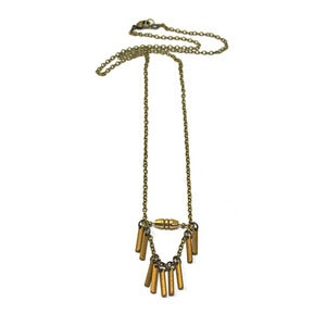 Image of dusted fringe necklace