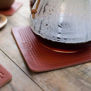 Image of Wood & Faulk Leather Trivet