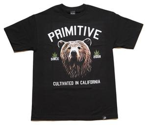 Image of Primitive - Golden Bear Tee - Black
