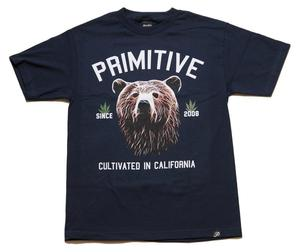 Image of Primitive - Golden Bear Tee - Navy