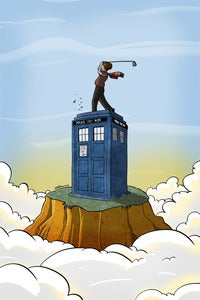 Image of A Doctor Who Golfs Print