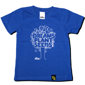 Image of Dreams Plant Seeds - Blue Kids T-shirt