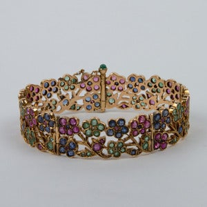 Image of 1940's 14K Rose Gold Floral Bracelet