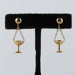 Image of 14k Gold Chalice Earrings