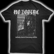Image of NO ZODIAC &quot;UNHOLY HATRED&quot; SHIRT