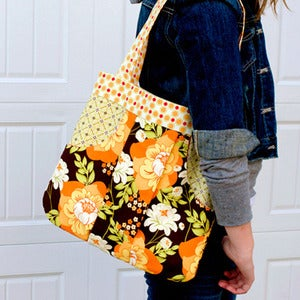Image of March Bag, Pleated Handbag featuring Sandi Henderson Meadowsweet Fabric