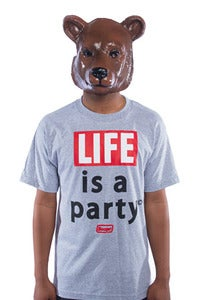 Image of Life is a Party Tee - Grey