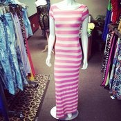 Image of Pink Striped Maxi Dress