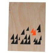Image of 'Triangles' screeprint on ply