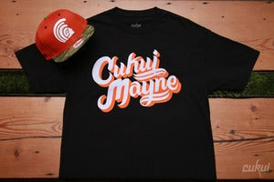 Image of Cukui Mayne Tee - Black/Orange