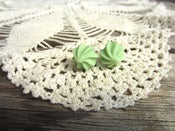 Image of Mint Meringue Puff Earrings