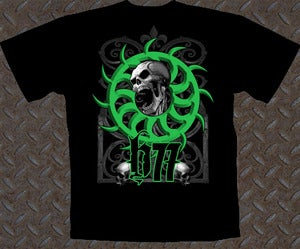 Image of GREEN SKULL T SHIRT 