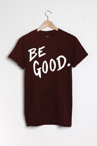 T-shirt design Be Good - Burgundy