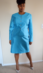 Image of Talbots Skirt Suit {Size 16}
