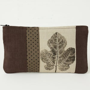 Image of fig patchwork zip purse