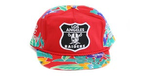 Image of RAIDERS HAWAIIAN SNAPBACK - RED