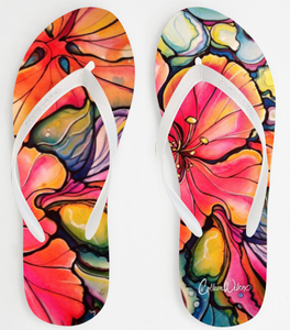 Image of Hibiscus Sandals by Colleen Wilcox