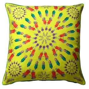 Image of Penny Kaleidoscope Silk Cushion