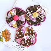 Image of set of 3 posy pins - 834