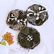 Image of set of 3 posy pins - 833