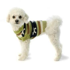 Image of Fritzy's Fair Isle Dog Sweater - Winter Pear