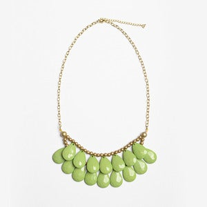 Image of Citrus Green Briolette Necklace