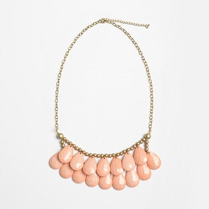 Image of Peach Briolette Necklace