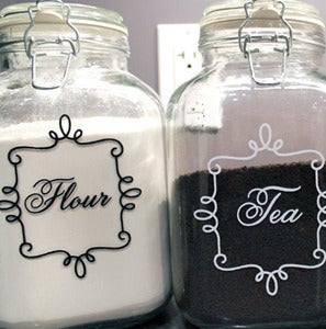 Image of Vinyl Labels for Kitchen Jars & Canister