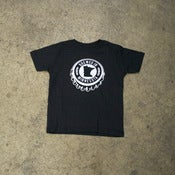 Image of BOTTLE CAP - BLACK YOUTH T-SHIRT