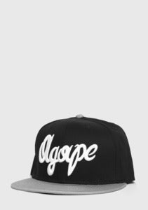 Image of &quot;Fresh Script&quot; Black/Gray Snapback