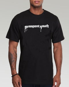 Image of MISSPENT YOUTH - MEN'S BLACK TEE