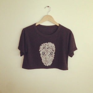 Image of Reincarnation Skull Crop Top (Vintage Black)