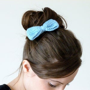 Image of Crochet bow hair clip